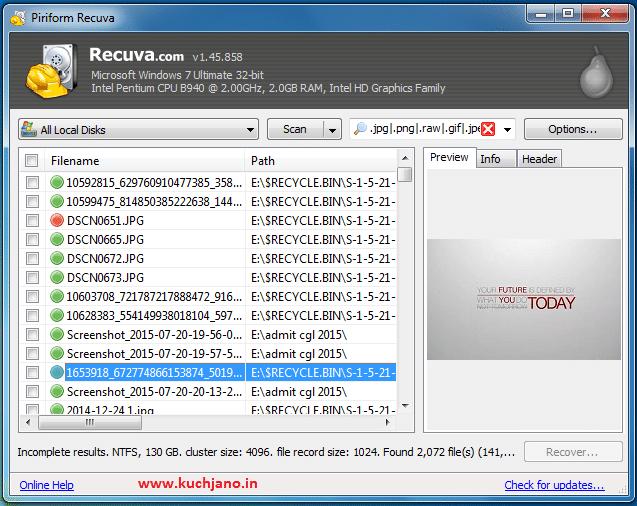 Recuva File recovery 2
