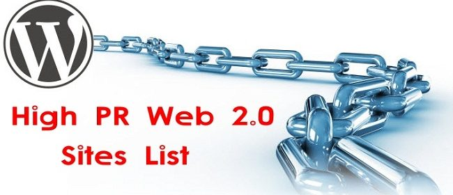 Best High PR Web 2.0 sites list *Apr 2019* 2