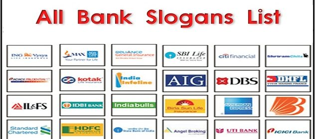 All Bank Slogans / Punchlines List 3
