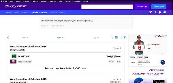 Top 10 Best Site to Check Live IPL World Cup Cricket Score in 12